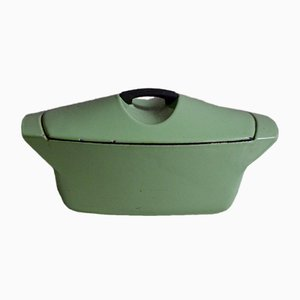 Vintage Almond Green Casserole Dish by Raymond Loewy for Le Creuset