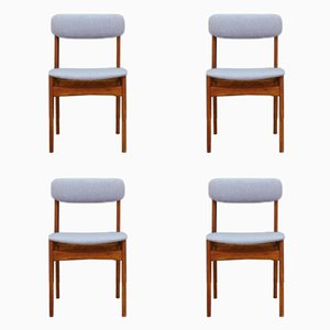 Mid-Century Teak Chairs by N. & K. Bundgaard Rasmussen for Thorsø Stolefabrik, Set of 4