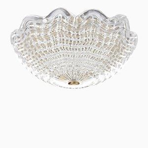 Lampada da soffitto in cristallo di Carl Fagerlund per Orrefors, anni '60