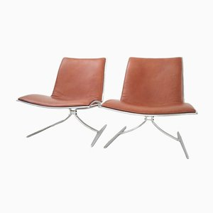 Skater JK 710 Chairs by Jørgen Kastholm for Kill International, 1968, Set of 2