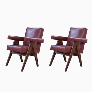 Committee Lounge Chairs by Pierre Jeanneret, 1960s, Set of 2