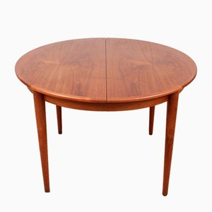 Tavolo da pranzo rotondo in teak, anni '50