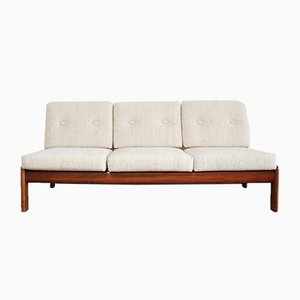 Vintage Cherrywood Sofa from Knoll