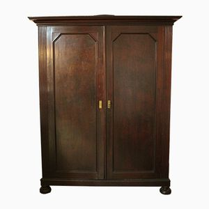 Spanish Art Deco Walnut & Zebrawood Wardrobe from Eguzki, 1930s