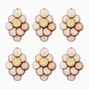 Appliques Murales Murano de Vistosi, 1970s, Set de 6