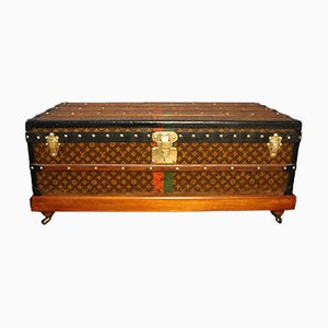 Stenciled Monogram Steamer Trunk from Louis Vuitton, 1930s