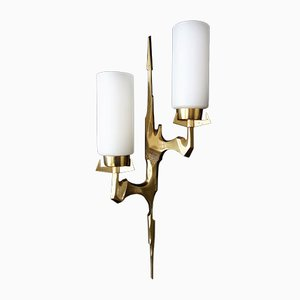 Wall Lamp in Bronze by Felix Agostini for Arlus, 1960s