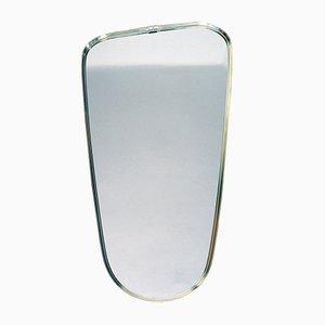 Specchio con cornice in ottone di Lachmayr, anni '50