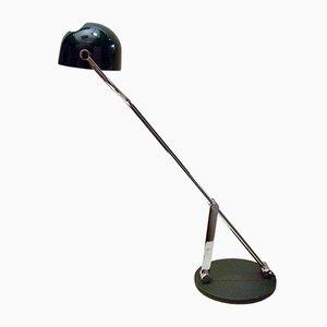 Lámpara de mesa italiana en verde de cromo con base rotatoria 360º, años 70