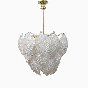 Murano Glas Lampe von Mazzega, 1970er