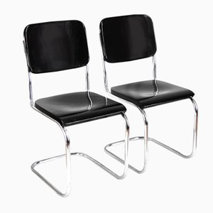 B32 Bauhaus Chromed Chairs by Mart Stam for Slezák, 1920s, Set of 2