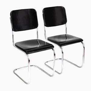 Verchromte B32 Bauhaus Stühle von Mart Stam für Slezák, 1920er, 2er Set