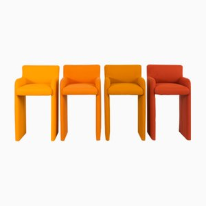 Vintage Gradient Stools by Milo Baughman for Design Institute of America, Set of 4