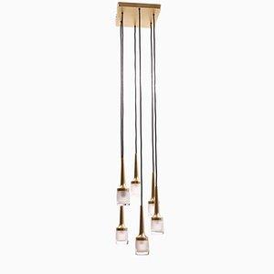 Lampe Cascade avec Six Suspensions de Staff Leuchten, 1960s