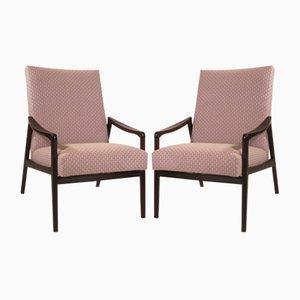 Sessel aus Gebeiztem Holz, 1950er, 2er Set