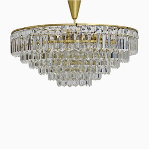 Crystal Glass Chandelier by Bakalowits & Söhne, 1960s