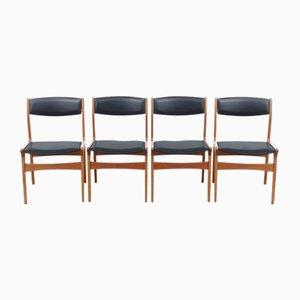 Beistellstühle von Dyrlund Mobelfabrik, 1960er, 4er Set