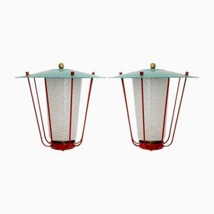 Lanternes par J.T.Kalmar pour Kalmar, 1960s, Set de 2