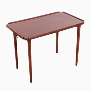 Mahogany Folding Side Table, 1960s