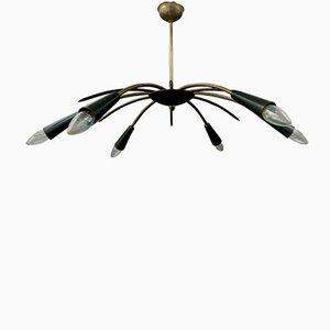 Lámpara de araña Mid-Century de 6 brazos, años 50