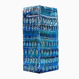 Italienische Mid-Century Rimini Blue Vase von Aldo Londi für Bitossi, 1960er