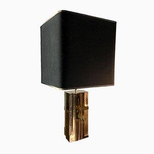 Lámpara francesa de bronce dorado de Michel Mangematin, años 60