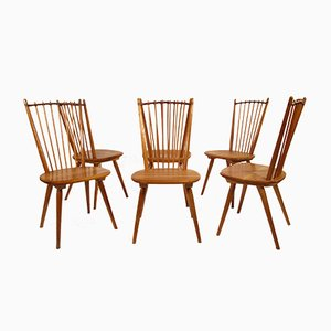 Stühle von Albert Haberer für Hermann Fleiner, 1950er, 6er Set