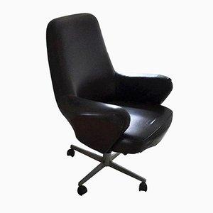 Drehbarer Sessel aus Metall & Kunstleder von Giulio Moscatelli für Forma Nova, 1960er
