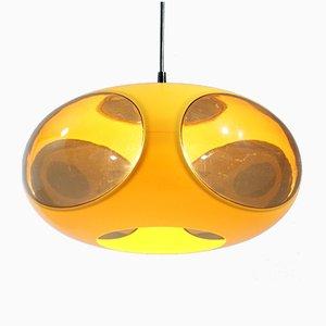Lampada UFO Space Age gialla di Luigi Colani, anni '70