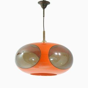 Orange Space Age UFO Lampe von Luigi Colani, 1970er