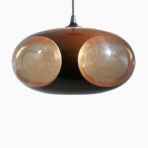 Lámpara UFO era espacial en marrón de Luigi Colani, años 70