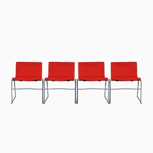 Chaises par Massimo & Lella Vignelli pour Knoll, 1980s, Set de 4