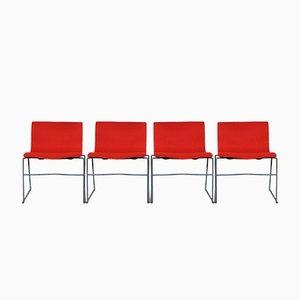Sedie di Massimo & Lella Vignelli per Knoll, anni '80, set di 4