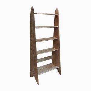 Solid Oak Shelving Unit by Pierre Cruège, 1950s