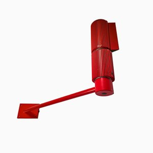 Red Wall Sconce from SLZ Swisslamps International, 1960s
