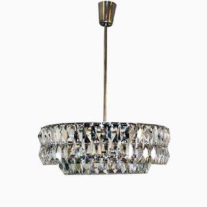 Lámpara de araña vienesa de cristal, años 60
