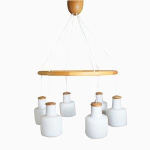 Lámpara de araña vintage de Östen & Uno Kristansson para Luxus