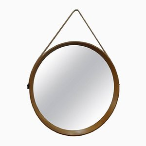 Espejo de pared escandinavo circular de Uno & Östen Kristiansson para Luxus, años 60