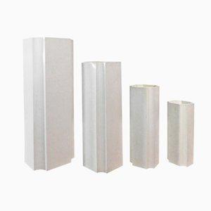 Abgestufte Vasen von Jacques Bedat, 1970er, 4er Set