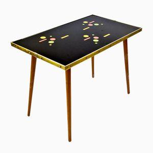 Vintage Tisch mit Glasplatte, 1970er