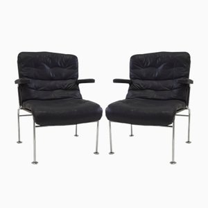 Superbe Birgitta Leather Chairs By Bruno Mathsson For Dux, 1960s, Set Of 2