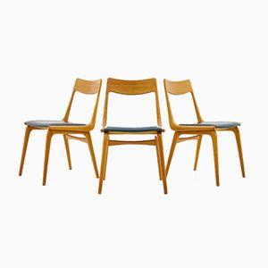 Sedie da pranzo Boomerang di Erik Christensen per Slagelse Møbelværk, anni '50, set di 3