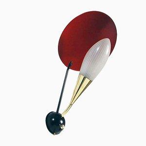 Italienische Bunte Wandlampe, 1950er