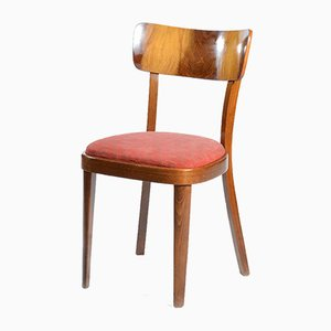 Chairs in Wooden Veneer, 1950s, Set of 4