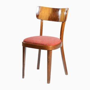 Stühle mit Holzfurnier, 1950er, 4er Set
