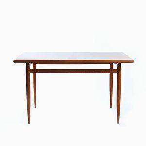 Tavolo da pranzo in legno impiallacciato in mogano, anni '70