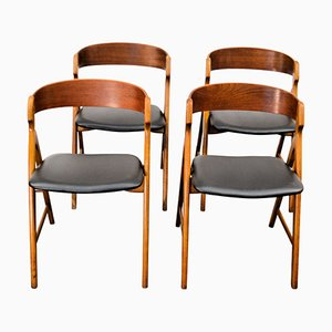 Vintage Wooden Dining Chairs by Henning Kjaernulf for Boltinge Støle Møbelfabrik, Set of 4