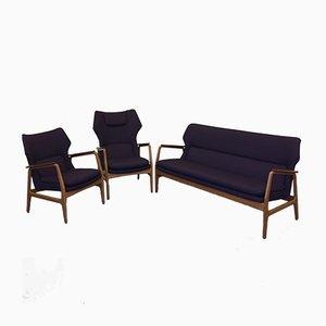Wingback Living Room Set by Aksel Bender Madsen for Bovenkamp, 1950s