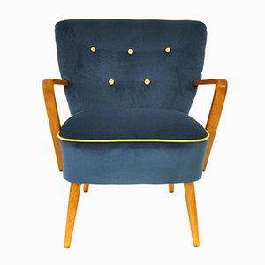 Österreichischer Blauer Mid-Century Sessel, 1950er