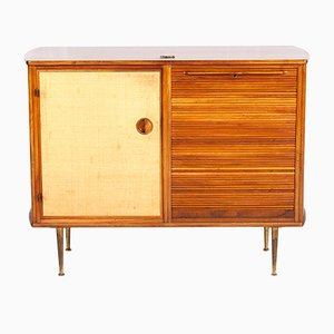Armoire en Noyer & Raffia par William Watting pour Fristho, 1960s
